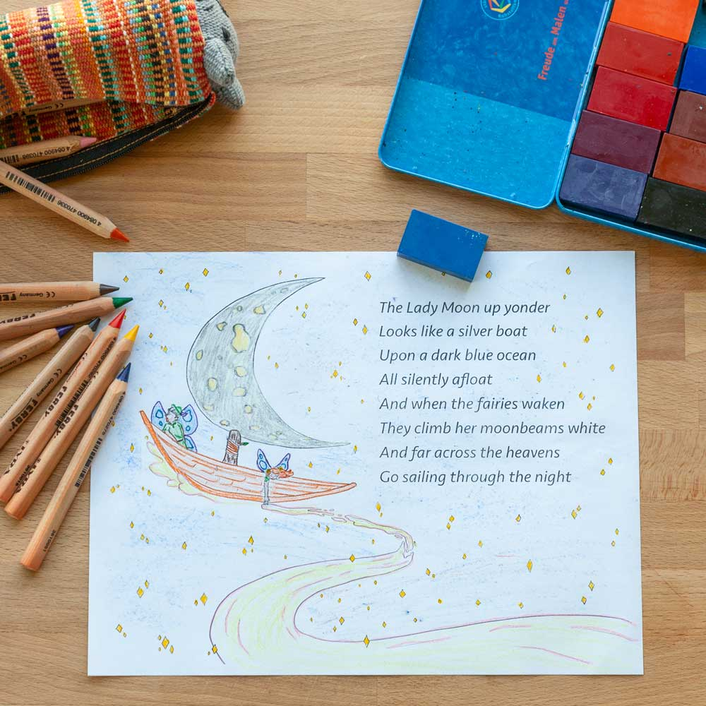 Bedtime Poem Coloring Sheet