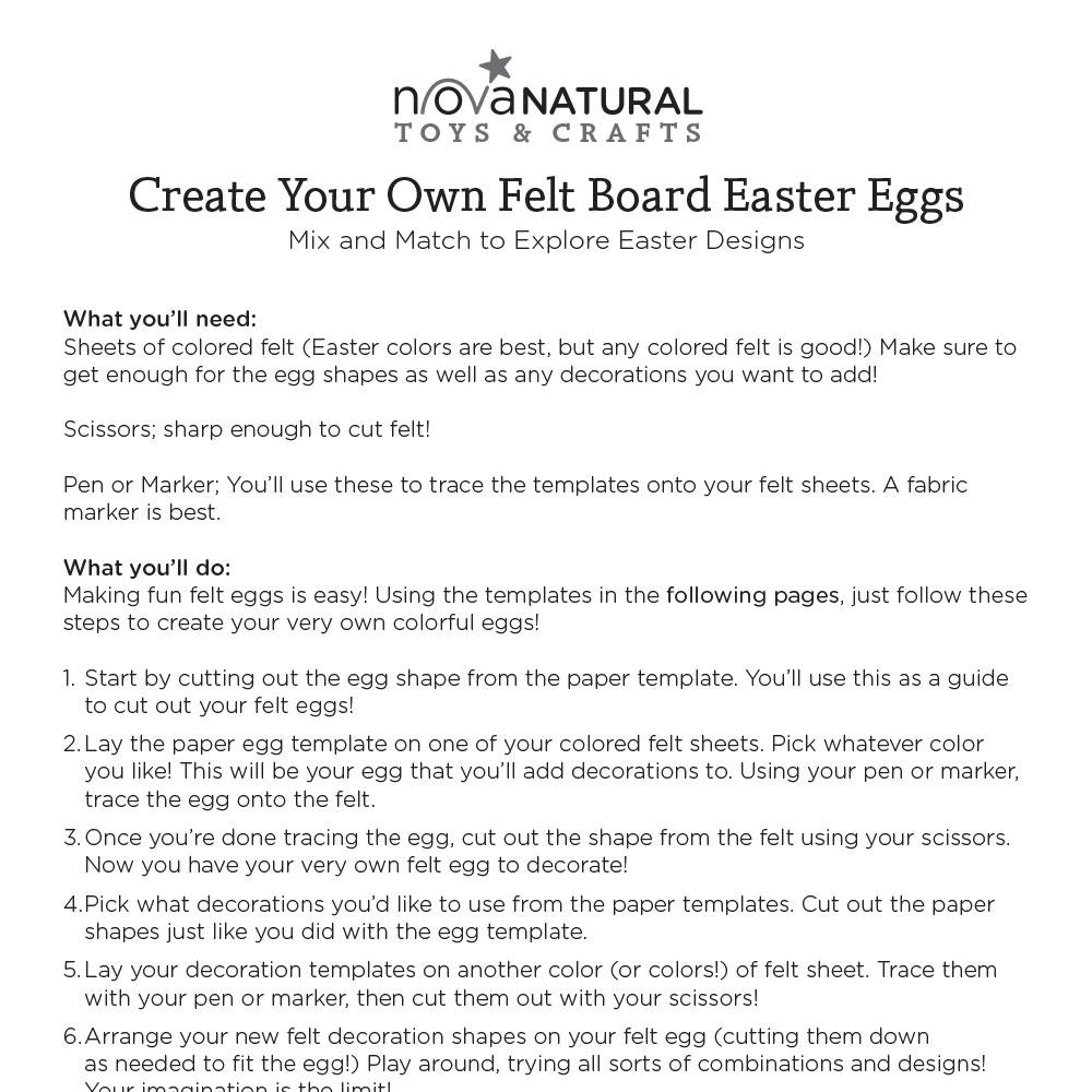 Create Your Own Felt Board Easter Eggs
