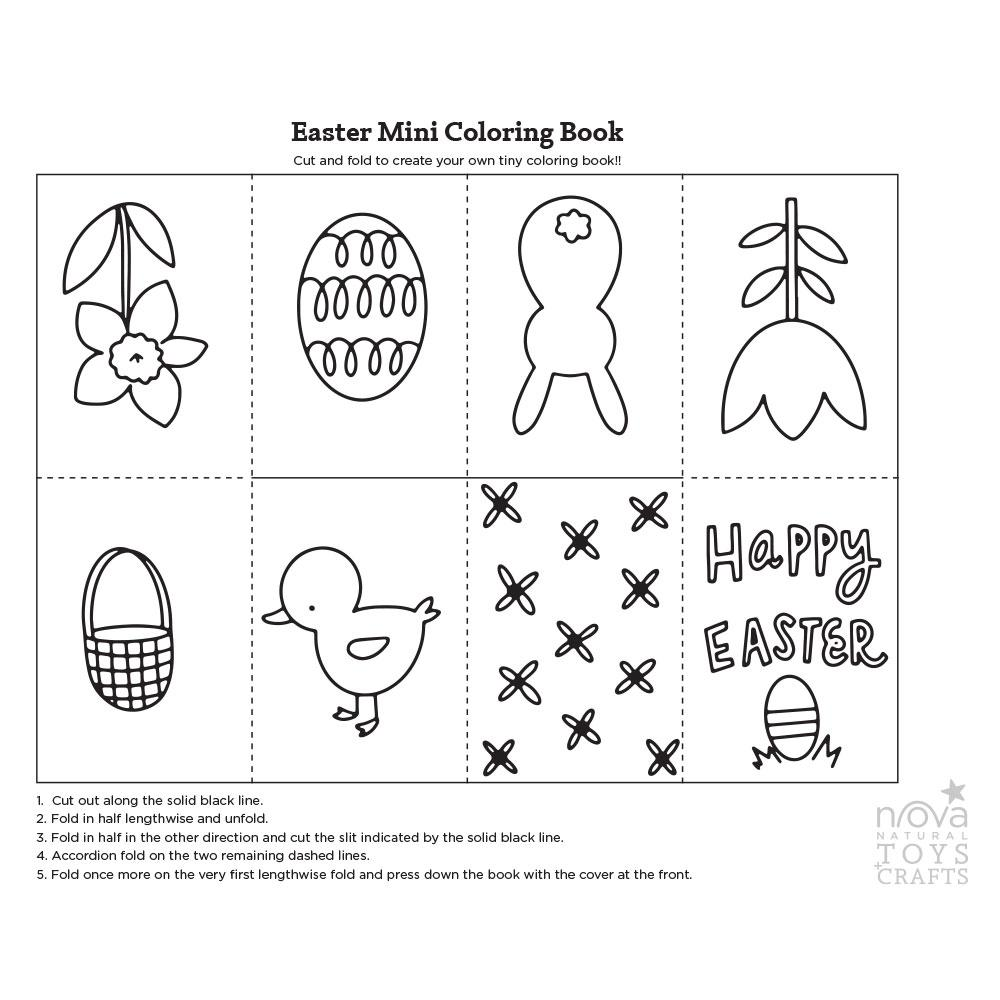 Easter Mini Coloring Book