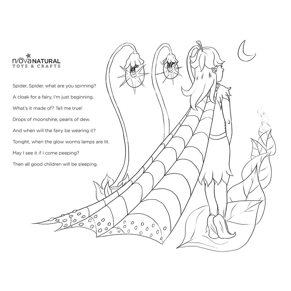 Fairy Poem Coloring Sheet