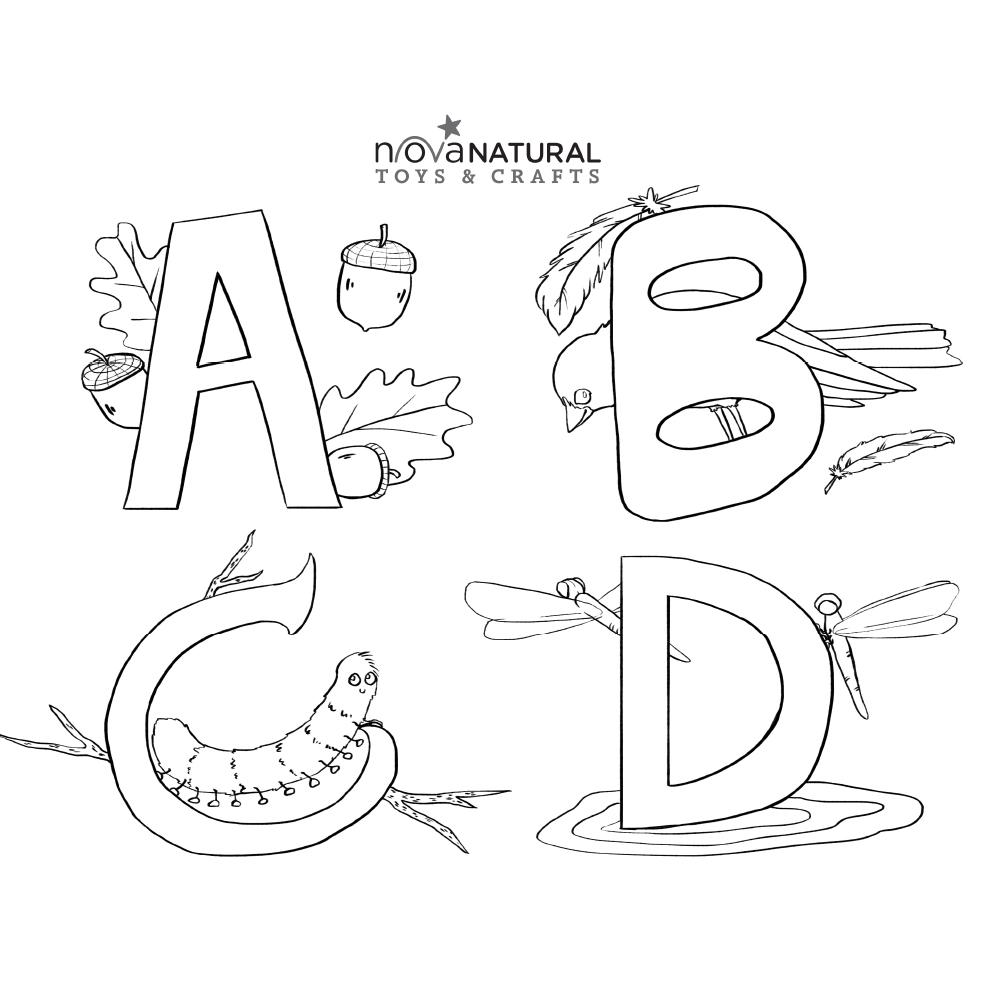 Letter Learning Coloring Sheet