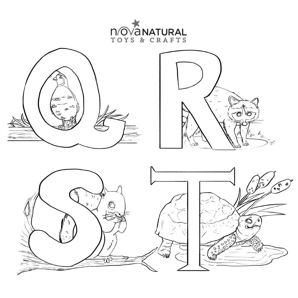 Letter Learning Coloring Sheet Q-T