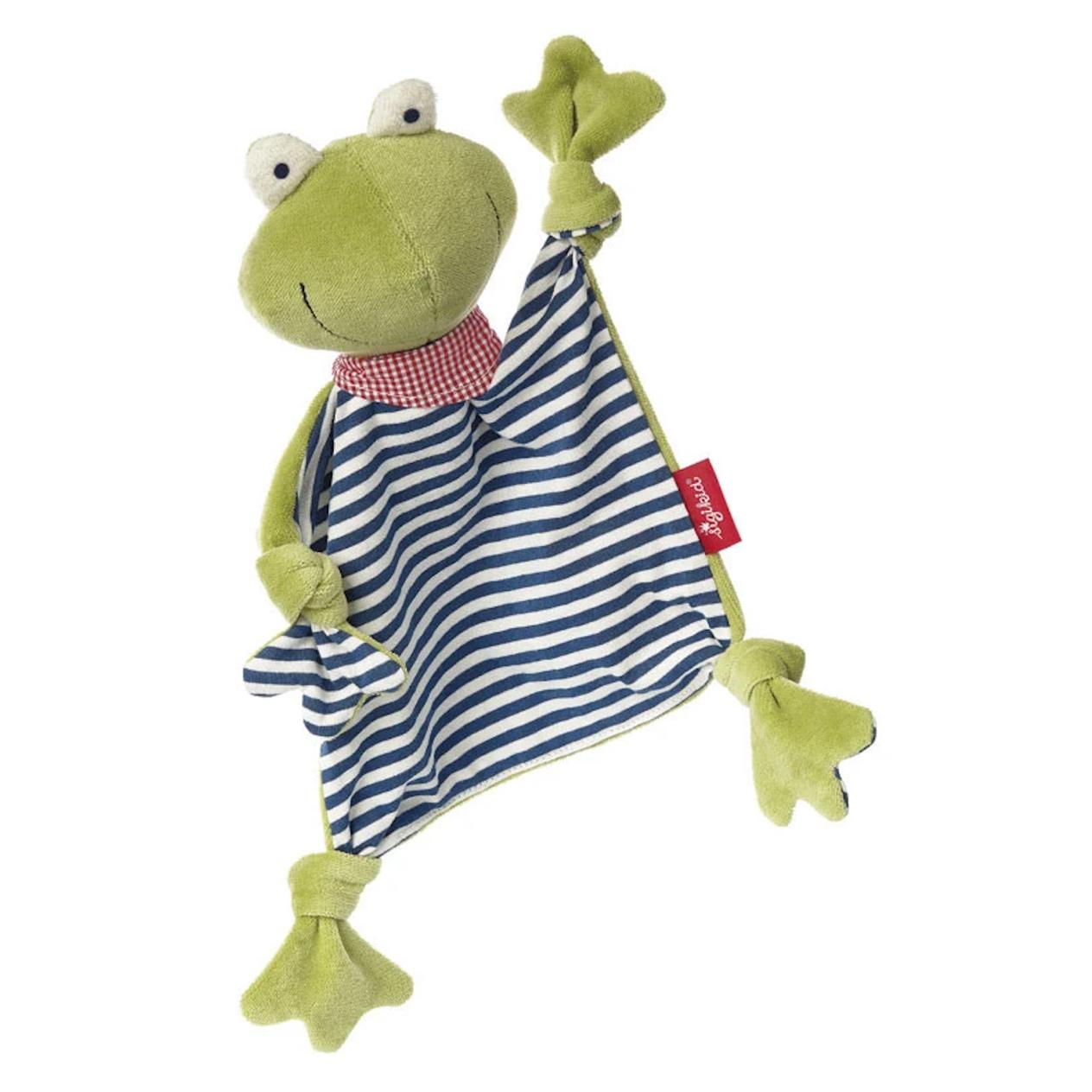 organic cotton froggie blanket stuffed animal