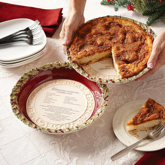 Coffee Cake Dish In Holiday Traditions Isabella