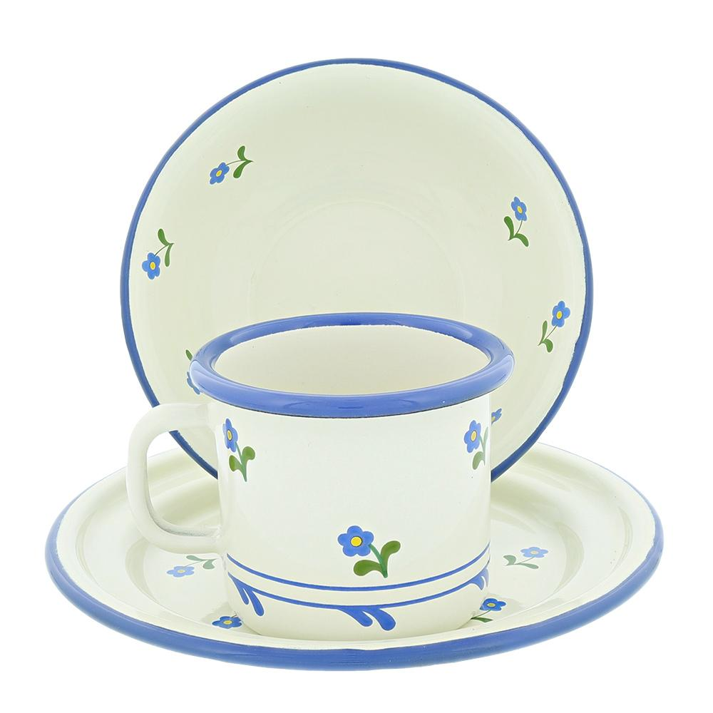 Share Tweet Pinit  sc 1 st  Nova Natural & Flower Enamel Cup Bowl u0026 Plate | Nova Natural Toys u0026 Crafts